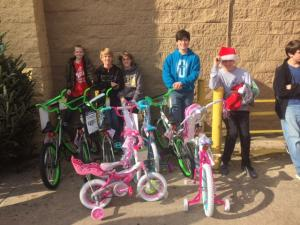 Everyone wants a bicycle for Christmas.  Our Stuco helps children get one.