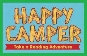 Image result for happy camper reading adventure