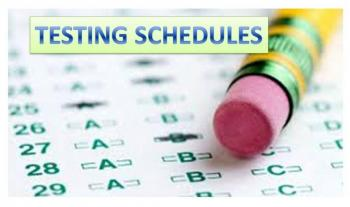 Image result for testing schedules