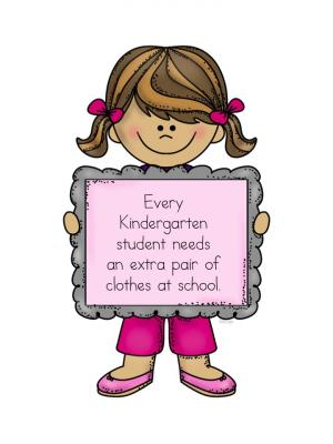 Image result for extra clothes clipart kindergarten