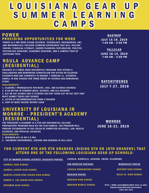 LA Gear Up Summer Camp
