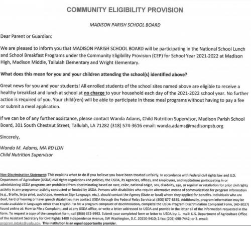 CEP Notice
