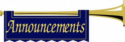 Announcements Clipart