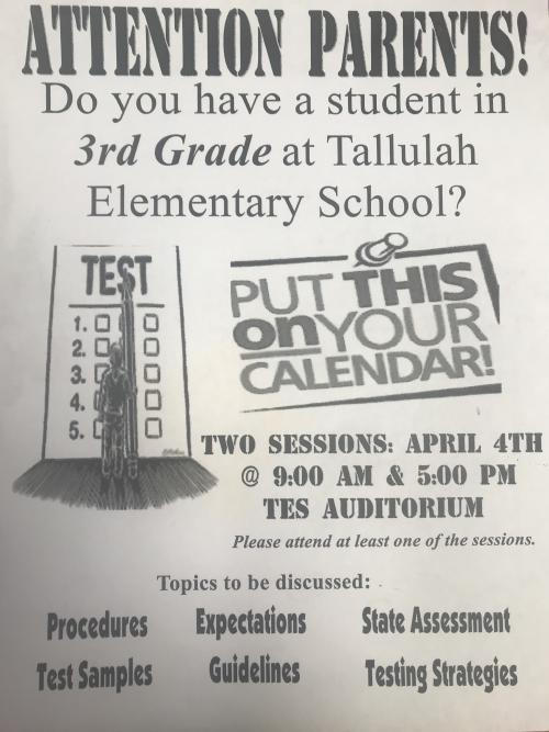 TES Testing Information Session