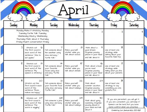 Fluency Calendar