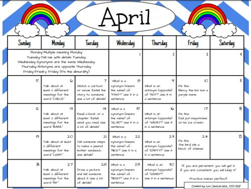 Language Calendar