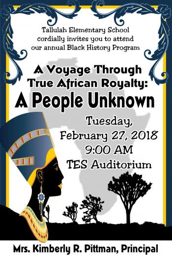TES Black History Program
