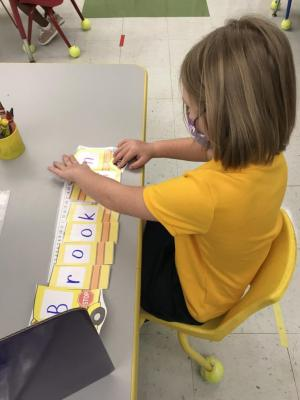 Putting together our school bus name puzzle