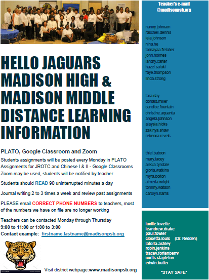 Distance Learning Flyer