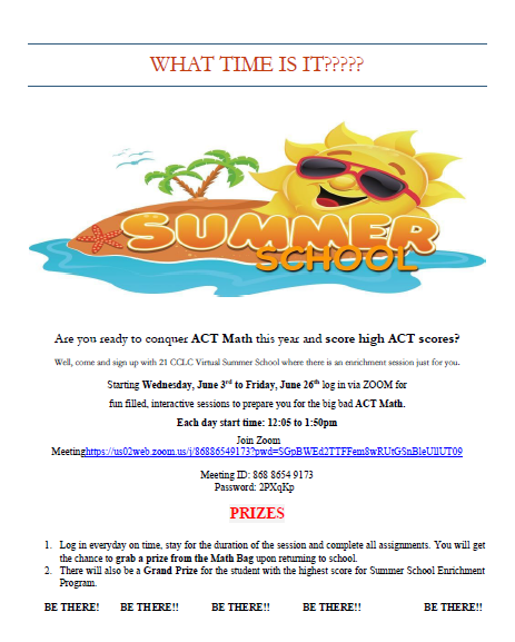Tyndale Summer School Flyer