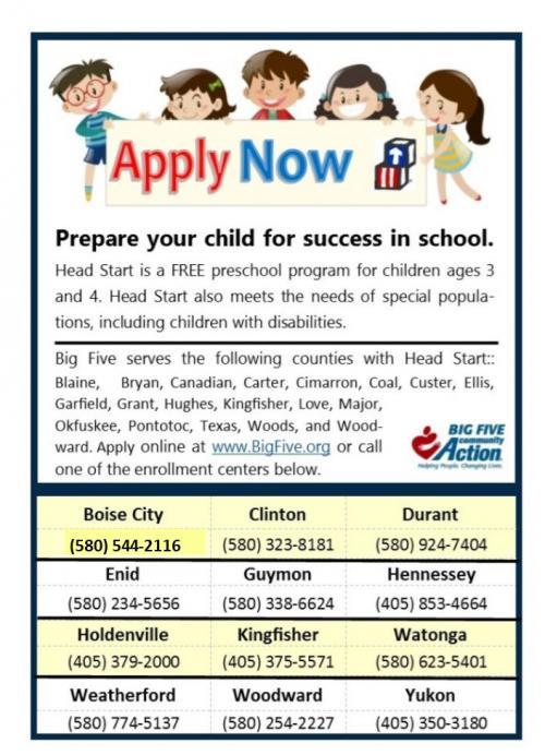 Head Start Enrollment Contact