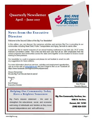 2nd Qtr Newsletter