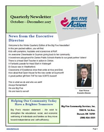 4th Qtr Newsletter