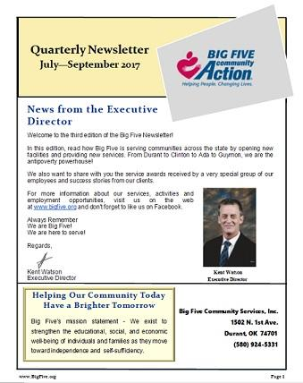 3rd Quarterly Newsletter