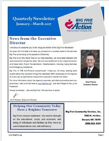 1st Qtr Newsletter