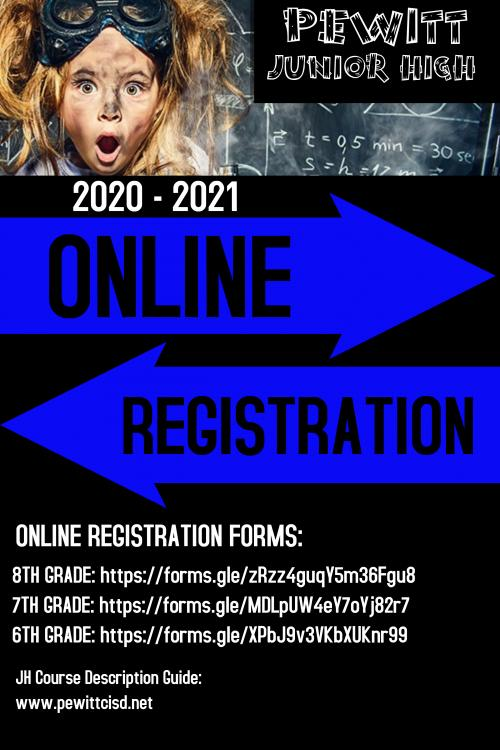 Junior High Registration Flyer 2020-2021