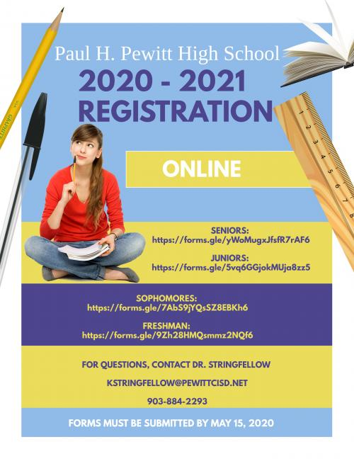 High School Registration Flyer 2020-2021