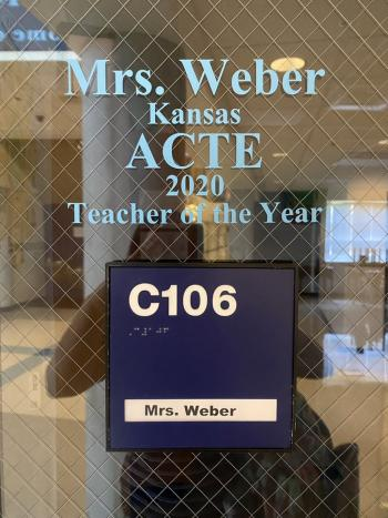 Weber Receives State Award at CTE Summer Conference
