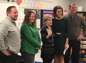 Mrs. McCormick wins the KAKE Golden Apple Award