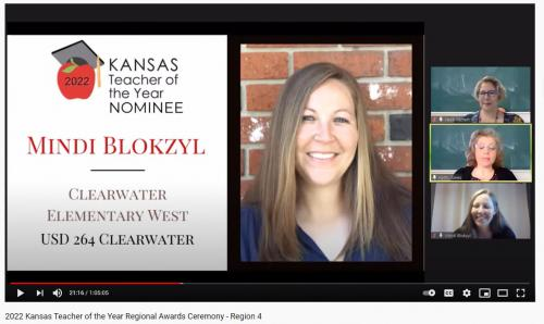 KSDE Teacher of the Year semi-finalists were announced on March 27, 2021.