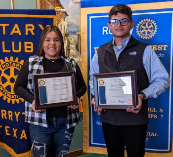 Fabela and Marquez Are February Students of The Month