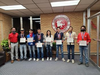 Cross Country, Football & UIL Recognized at Board Meeting