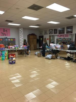 CBISD folks preparing donations