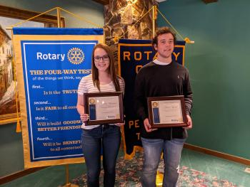 Harrison and Vyoral Are Students of the Month for March