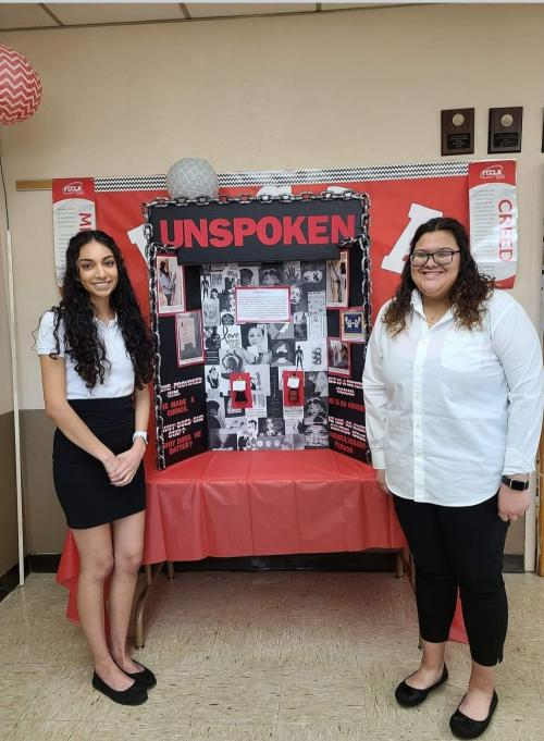 Kayla Chairez and Abby Vargas won People's Choice Award and Evaluator's Choice award and will get the honor of being showcased at National FCCLA this summer.