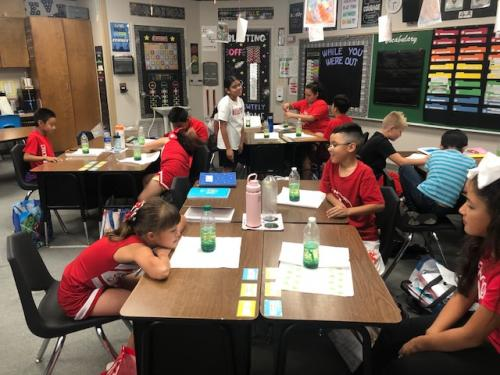 4th Graders exploring some of the Properties of Matter with a Lava Lamp activity.