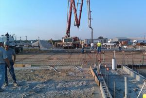Pouring the concrete flooring- September 2011