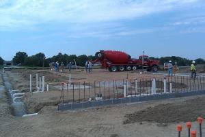 Pouring the Footers- August 2011