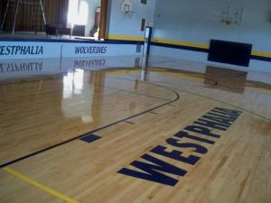 New Gym Floor- Late August 2011