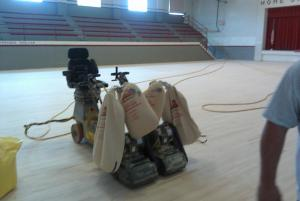 New Gym Floor- Mid August 2011