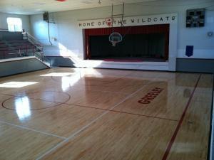 New Gym Floor- September 2011