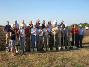 Groundbreaking Ceremony at the New Elementary School in Garnett 7-18-2011