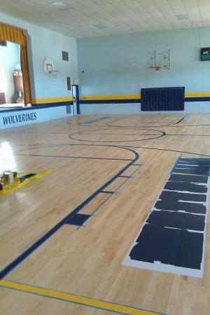 New Gym Floor- Early August 2011