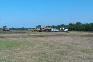 Early Construction Photos at the New Elementary School in Garnett - July 2011