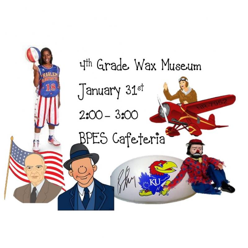 4th Grade Wax Museum January 31