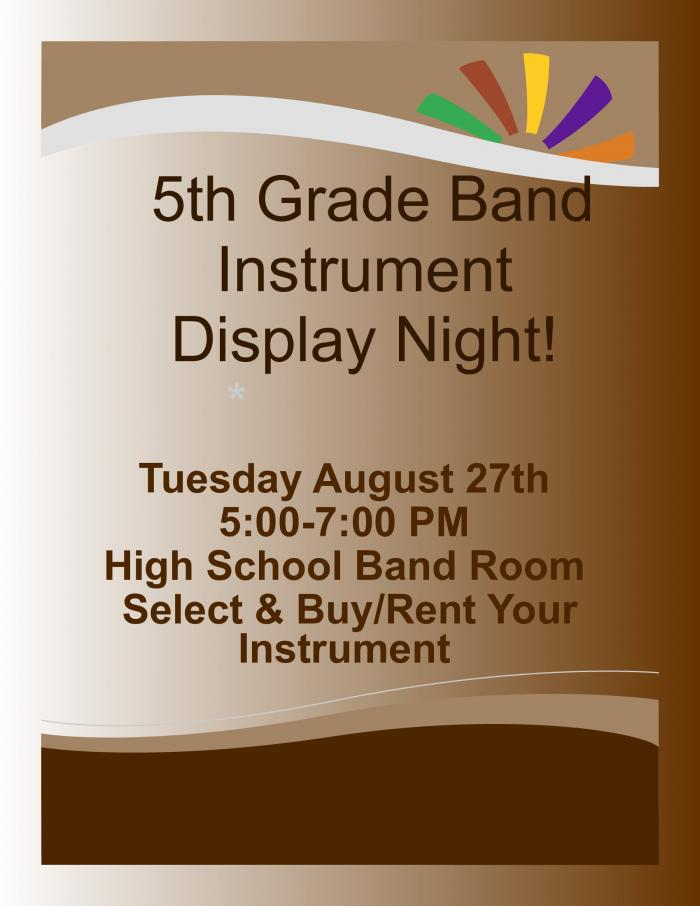 Band Instrument Display Night