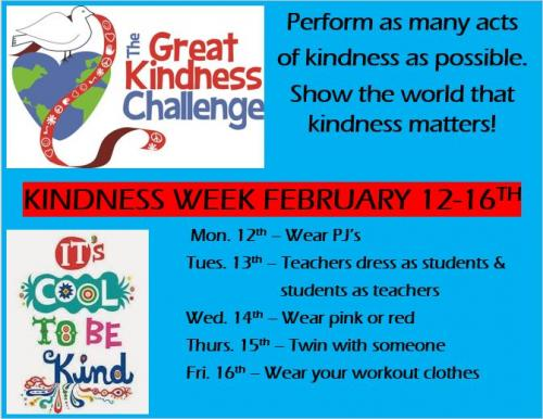 Great Kindness Challenge for February