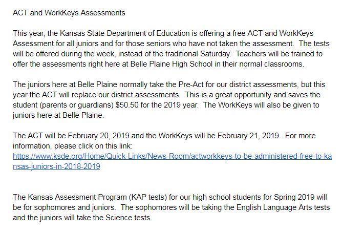 ACT & WorkKeys Info