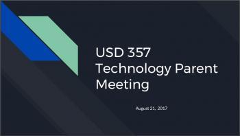 Parent Tech Meeting Slideshow