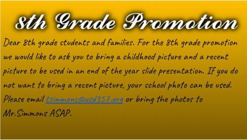 pictures needed of 8th grade students