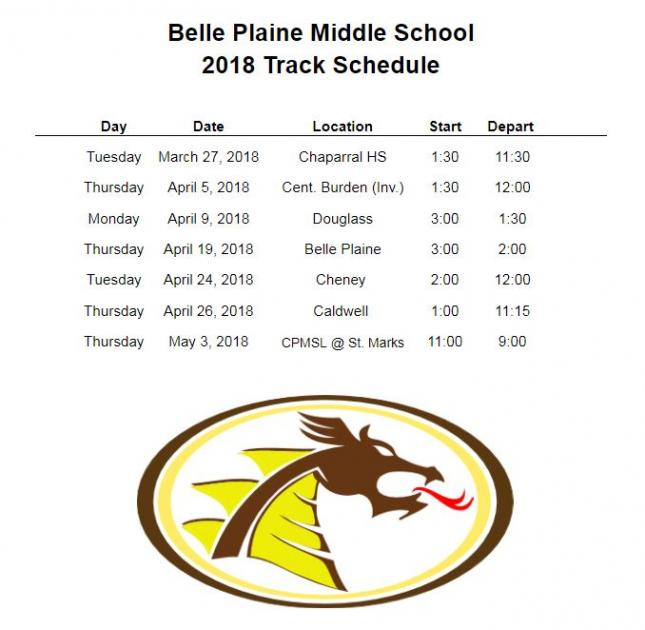 BPMS Track Schedule