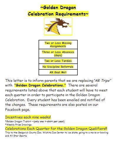 Golden Dragon Celebration Requirements