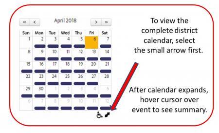 calendar help with arrow