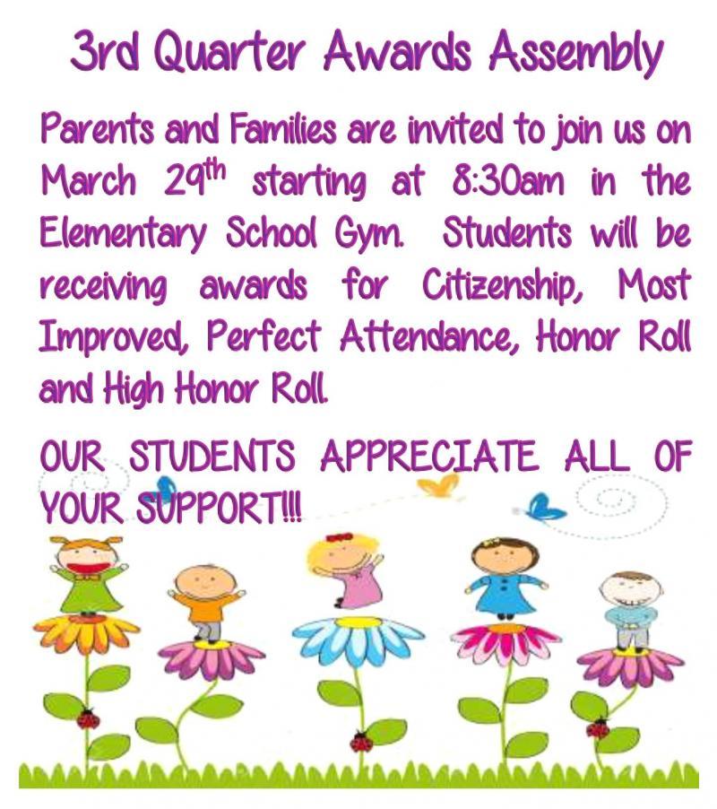 3rd quarter awards assembly
