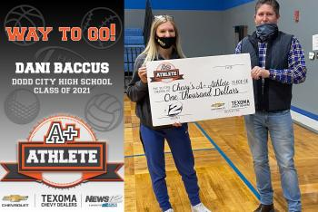 Congratulations Dani Baccus A+ Athlete of the week