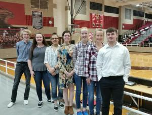 Congratulations to (L-R) Riley Stephens, Cailyn Nolen, Chase Lyde, Zoee Reese, Prairie Wild, and Pate Wilkerson for their Solo/Ensemble performances!